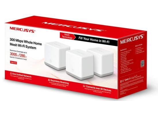Mercusys Halo S3 300 Mbps Whole Home Mesh Wi-Fi System (3-Pack)