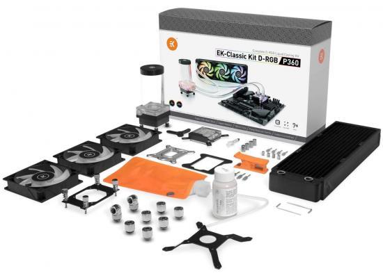 EK-Classic Kit P360 D-RGB Triple 120mm 360mm RAD Liquid Cooling Kit