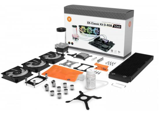 EK-Classic Kit S360 D-RGB Triple 120mm Liquid Cooling Kit