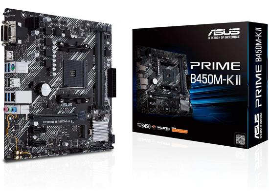 ASUS PRIME B450M-K II AMD B450 M.2 Micro ATX Motherboard