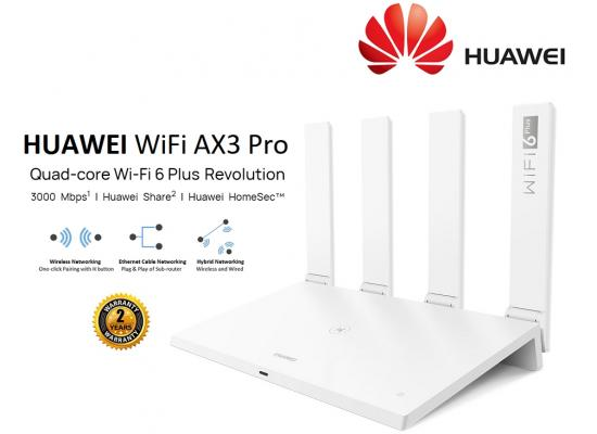Huawei AX3 (Quad-core) WS7200 Wi-Fi 6 Plus speed is up to 3000Mbps