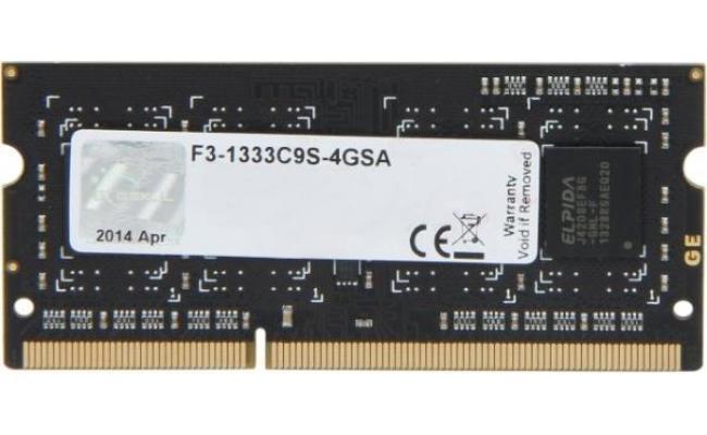 G.SKILL 4GB 204-Pin DDR3 SO-DIMM DDR3 1333 (PC3 10666)