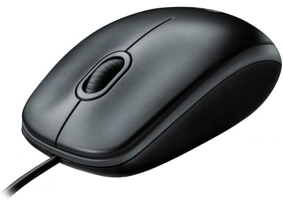 Logitech M100 Wired USB Optical Mouse Right & Left Hand Use