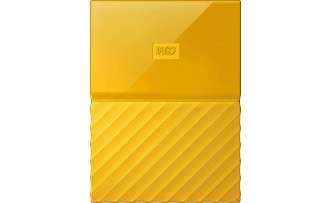 WD My Passport 2TB USB 3.0 Secure HDD, Yellow