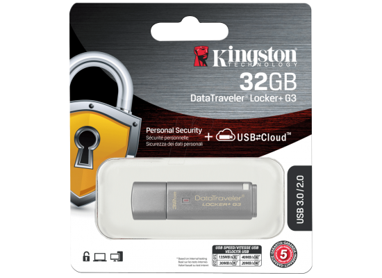 Kingston 32GB Data Traveler Locker + G3 Personal Security