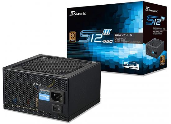 Seasonic S12III 550W 80+ Bronze Smart & Silent Fan