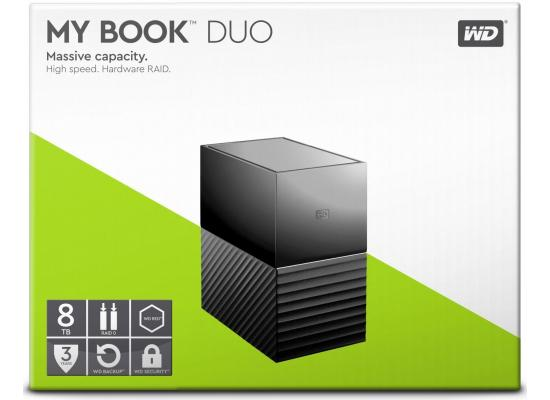 WD 8TB My Book Duo Desktop RAID External HDD - USB 3.1