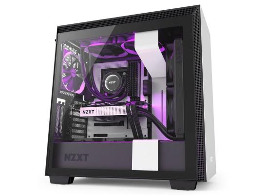 NZXT White H710i Smart Mid Tower Windowed PC Gaming Case