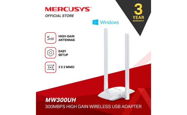 Mercusys MW300UH Wireless Adapter 300mbps High Gain USB