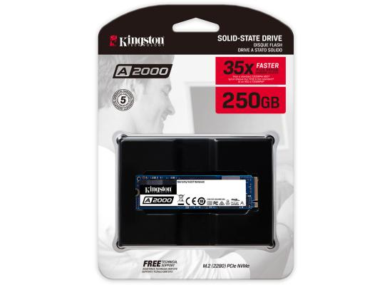 Kingston A2000 250GB SSDNow M.2 PCIe NVMe