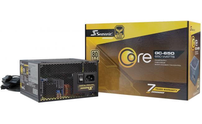 Seasonic CORE GC 650w 80+ Gold TUF Gaming Alliance