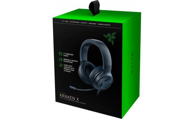 Razer Kraken X 7.1 Surround Sound Gaming Headset - Black