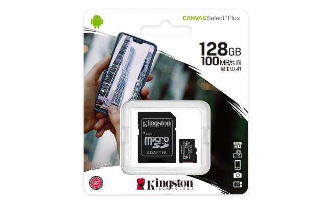 Kingston SDCS2/128GB Canvas Select Plus 128GB Class 10
