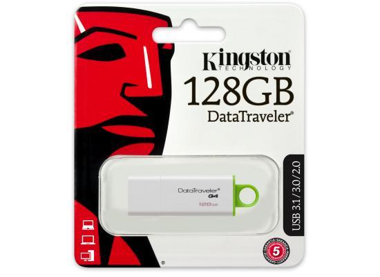 Kingston Digital 128GB Data Traveler 3.0 USB Flash Drive - Green