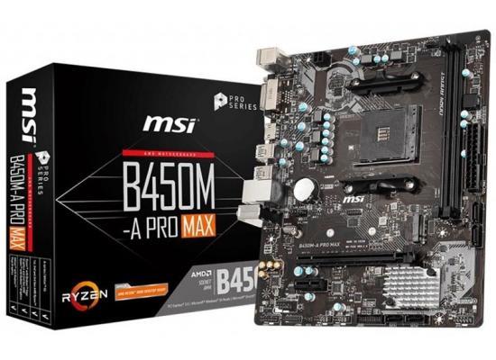 MSI AMD Ryzen B450M-A PRO MAX AM4 ATX Motherboard