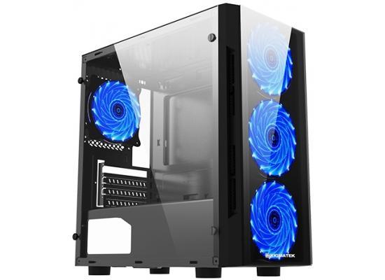 Xigmatek Scorpio II Blue LED Fans Tempered Glass