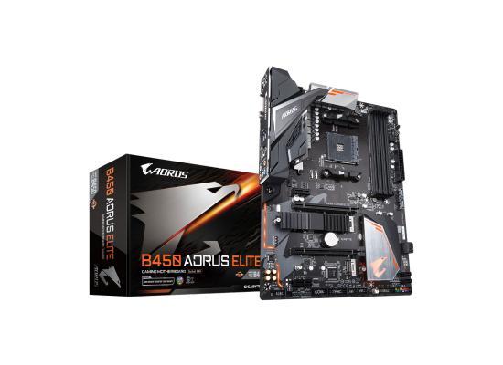 Gigabyte AMD B450 AORUS Elite Ryzen ATX Motherboard