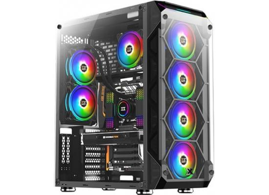 Xigmatek Overtake Tempered Glass Rainbow RGB Gaming Case