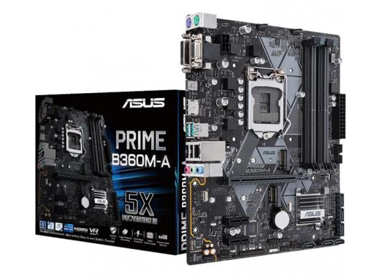 ASUS PRIME B360M-A DDR4 HDMI DVI VGA M.2 mATX M.B