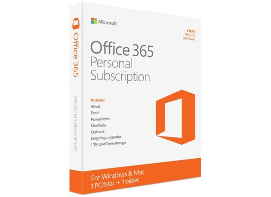 Microsoft Office 365 Personal / 12-month , 1 person, PC/Mac