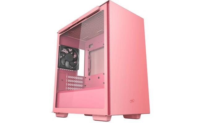 Deepcool MACUBE 110 Micro ATX Tempered Glass Side - Pink