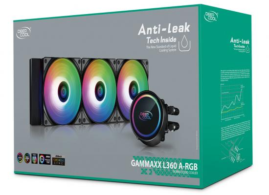 DEEPCOOL GAMMAXX L360 A-RGB AIO Liquid Cooler Anti-Leak Technology