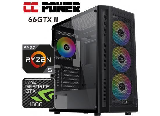 CC Power 66GTX II Gaming PC AMD Ryzen 5 w/ GTX 1660