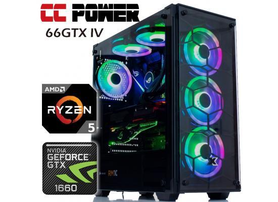 CC Power 66GTX IV Gaming PC 3Gen Ryzen 5 w/ GTX 1660 6GB