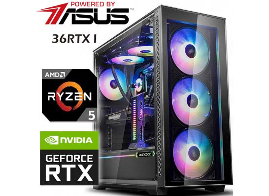 Powered By ASUS 36RTX I Gaming PC 5Gen AMD Ryzen 5 w/ RTX 3060