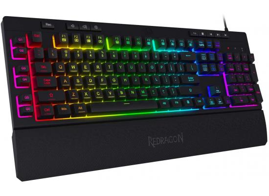 Redragon K512 Shiva RGB Backlit Multimedia Keys 6 Built-in Macro Keys