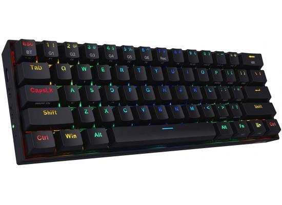Redragon K530 RGB 61 Keys USB-C & Bluetooth for PC, Laptop, Cell Phone - Black