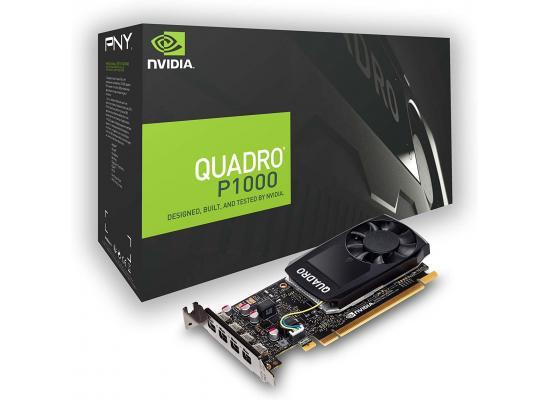 PNY NVIDIA Quadro P1000 V2 4GB GDDR5 4 DisplayPorts