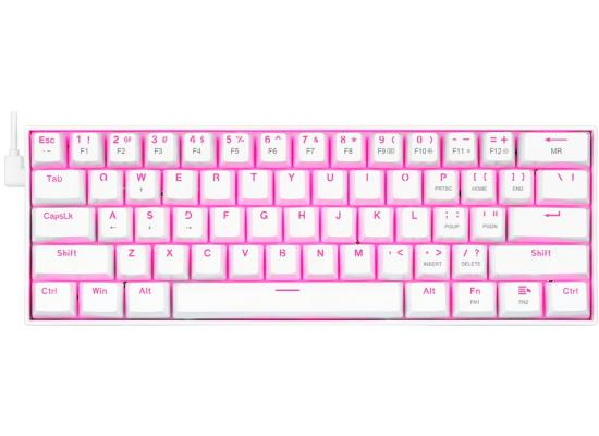 Redragon K630 White Backlit 61 Keys Type-C Mechanical – Brown Switch