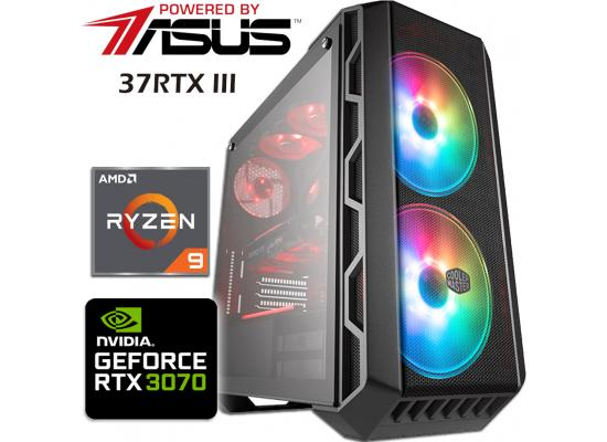 Powered By Asus 37RTX III Gaming PC 3Gen Ryzen 9 w/ RTX 3070 Liquid Cooled