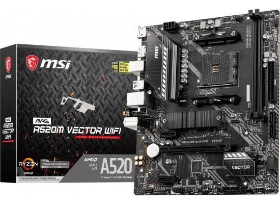 MSI MAG A520M VECTOR WIFI Micro ATX AMD Motherboard