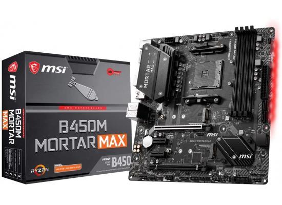 MSI B450M Mortar Max B450 DDR4 Micro ATX Motherboard