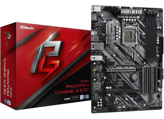 ASRock Phantom Gaming 4 Z490 Dual M.2 Support Motherboard