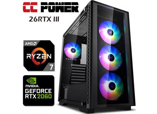 CC Power 26RTX III Gaming PC 3Gen RYZEN 7 w/ RTX 2060 6GB