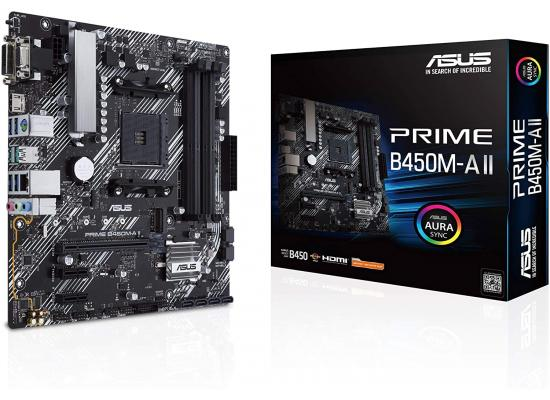 ASUS Prime B450M-A II AMD B450 Micro ATX AMD Motherboard