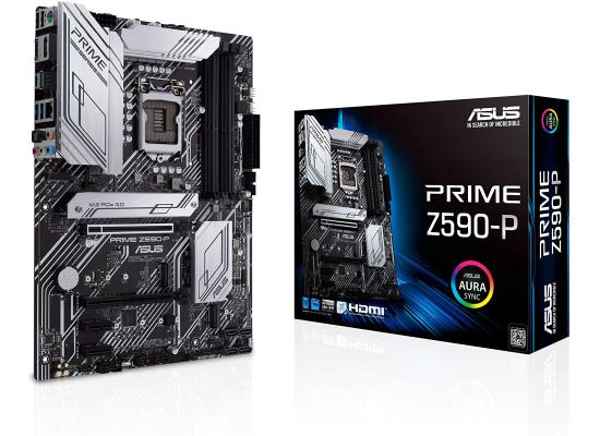 ASUS PRIME Z590-P Intel Z590 ATX Intel Motherboard Aura Sync RGB