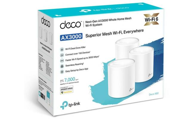 TP-LINK Deco DX60 AX3000 Whole Home Mesh Wi-Fi 6 (3-Pack)