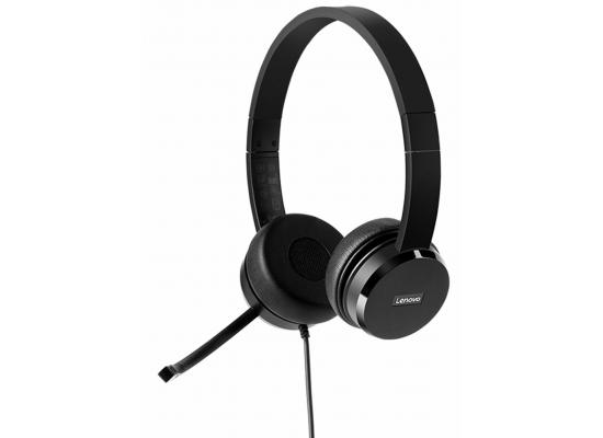 Lenovo 100 Stereo USB Business Headset w/ Noise Cancellation
