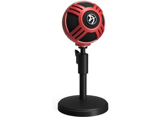 Arozzi Sfera USB Microphone for Gaming & Streaming, Red