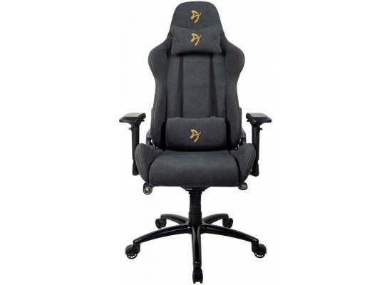 Arozzi Verona Signature Soft Fabric Gaming Chair - Gold Logo
