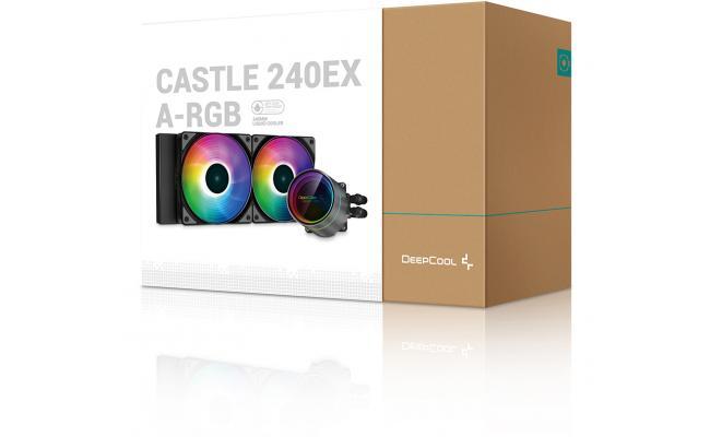 DEEPCOOL Castle 240EX A-RGB AIO Liquid Cooler Anti-Leak Technology