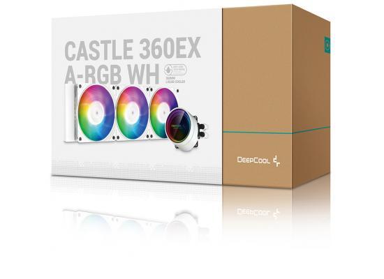 DEEPCOOL Castle 360EX A-RGB AIO Liquid Cooler Anti-Leak Technology - White