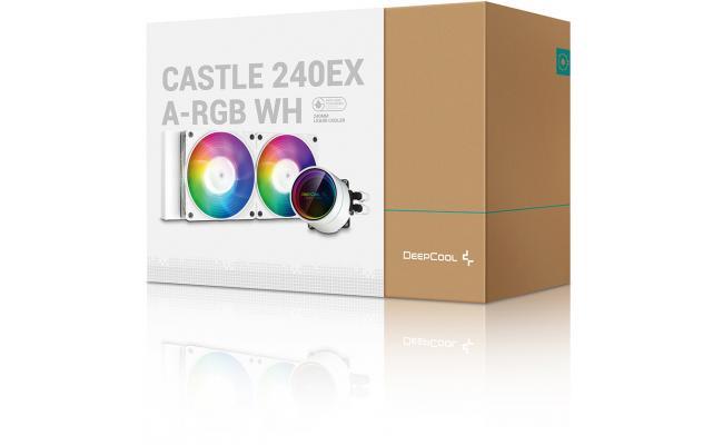 DEEPCOOL Castle 240EX A-RGB AIO Liquid Cooler Anti-Leak Technology - White