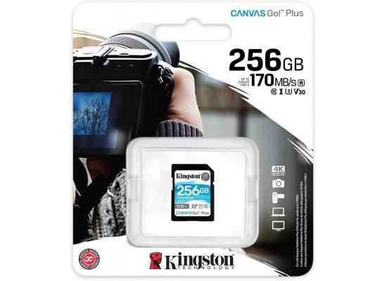 Kingston 256GB SDXC Canvas Go Plus 170MB /s C10, U3, V30 Memory Card