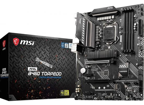 MSI MAG B460 TORPEDO Intel B460 Dual M.2 ATX Motherboard
