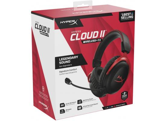HyperX Cloud II Wireless 7.1 For PC, PS4, Nintendo Battery Up to 30 Hours